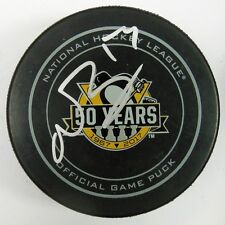 NICK BONINO SIGNED PITTSBURGH PENGUINS 50TH ANNIVERSARY OFFICIAL PUCK 1009369