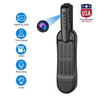 1080P HD Pocket Pen Camera Hidden Spy Mini Portable Body Video Recorder DVR US