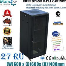 "27U 27RU 19"" 19 inch 600mm Deep Server Room Cabinet Network Data Rack Storage"
