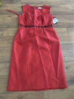 Kasper Dress Womens Size 4 Small S NWT NEW red Summer Spring