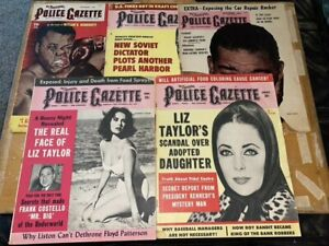 The National Police Gazette Magazine Lot of 5 Issues - Pin Up, Boxing, Gossip