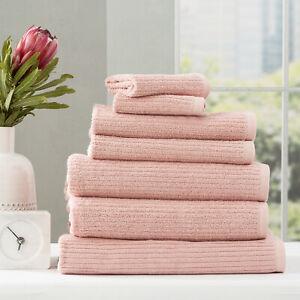 Renee Taylor Cobblestone 650 GSM Cotton Ribbed Bath Collection Blush