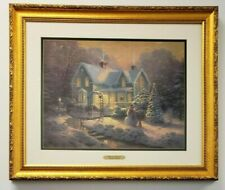 "Thomas Kinkade Blessings Of Christmas 27"" x 23"" Ltd Ed Numbered Lithograph Coa"