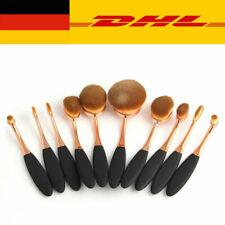 10tlg. Pinsel Set Kosmetik Make Up Schminkpinsel Makeup Foundation Brushes Oval