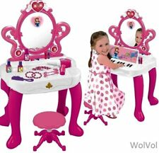 2-in-1 Vanity Set Girls Toy Makeup Accessories with Piano & Flashing Lights