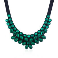 Pendant Bib Chunky Necklace Fashion Crystal Chain Statement Women Jewelry Choker