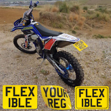 """Personalised 7x5"""" Kids Name Number Plates Childrens Toy Car Enduro Motorcycle"""