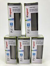 Legrand Pass Seymour Radiant 15 AMP Paddle Switch TM870-NICC10 Nickel LOT OF 5
