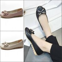 New Womens Bowknot Ballet Flats Round Toe Pumps Casual Soft Sole Shoes Size 8