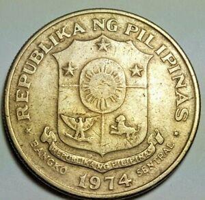 1974 Philippines 1 Piso Jose Rizal Republika Ng Pilipinas Coin
