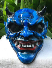 Custom BEAST Blue Demon Monster DOT Helmet 3D Hellboy Satan Horn Hell Skull
