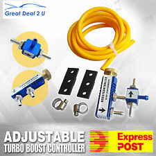 Manual Blue Adjustable Turbo Boost Controller For BMW Ford Nissan Benz + Kits