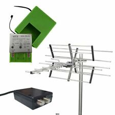 Kit TV digitale VHF-UHF Antenna + Amplificatore + Alimentatore