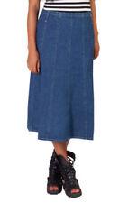 Gonne e minigonne da donna, taglia comoda blu taglia 42