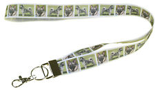 More details for norwegian elkhound breed of dog lanyard key card holder perfect gift