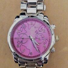 Geneva Women's Gold Watch Designer Inspired Style Pink Dial Brand New NICE GIFT!
