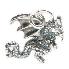x 1 Dragons charms Dkc9376. Dragon sterling silver charm .925