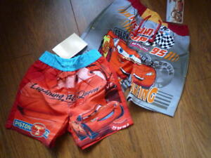 Disney Grey Cars Swim Shorts - age 5 years - new with tags