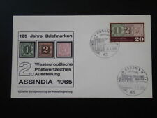 stamp on stamp Assindia 1965 FDC Germany 66517