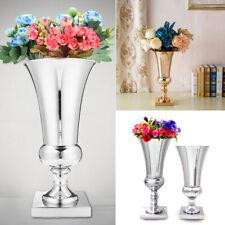 Silver/Gold Large Stunning Iron Luxury Flower Vase Urn Wedding Table Home Decor
