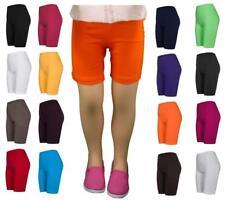 2 Stück kurze Leggings Shorts für Mädchen aus Baumwolle, viele Farben und Größen