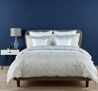 Christy Linen Deco Diamond Single Bed Duvet Cover Set