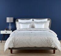 Christy Linen Deco Diamond Double Bed Duvet Cover Set - Split Pack