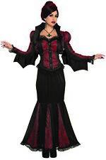 Womens Lady Of Darkness Vampire Dress Corset Shrug Fancy Adult Halloween Costume