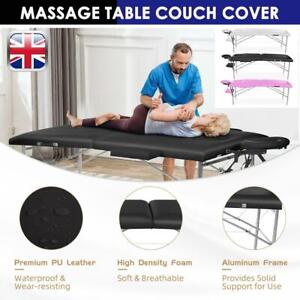 LIGHT WEIGHT PORTABLE MASSAGE TABLE BEAUTY THERAPY COUCH BED 2 SECTION Metal