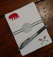 Handmade Paper Sheets - 10 sheets -Northwoods Animals (845) Free Shipping