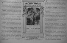 PUBLICITÉ DE PRESSE 1906 DOCTEUR JAEGER LA SANTÉ PAR LA LAINE - ADVERTISING