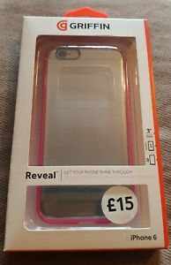 Griffin Reveal Ultra-Thin Hybrid Hard Shell Case For iPhone 6  Pink/Clear
