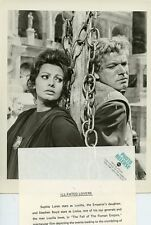 SOPHIA LOREN STEPHEN BOYD THE FALL OF THE ROMAN EMPIRE ORIGINAL '69 ABC TV PHOTO