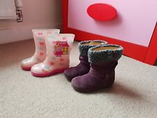 Startrite Girls Shoes Boots Size 6.5f And Peppa Pig's Wellies size 6