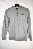 Adidas Men's Training Full-Zip Hoodie Jacket, Gray, Size M