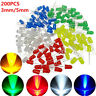 500Pcs/box 3/5mm LED Light White/Yellow/Red/Blue/Green Assortment Diodes Kit DIY