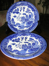 "Blue Willow Vintage Japan (Bottom ) of Rice Bowl Server Pagoda Pattern 8"" Exc."