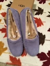 UGG Australia Scalloped Moc Moccasins SIZE 10 Lilac Slippers Shoes