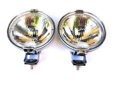 2x Fernscheinwerfer RUND LED RING H3 24V CHROM Halogenscheinwerfer FRONT Ø183 mm
