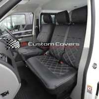 VW TRANSPORTER T6 & CARAVELLE TAILORED LEATHERETTE SEAT COVERS 2015 ON 209