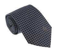 Roberto Cavalli ESZ020 05051 Black/Blue Micro Geometric Tie
