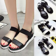 Women Lady Open Toe Ankle Strap Flat Sandals Summer Platform Wedges Shoes HOT LG
