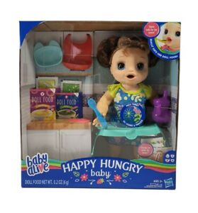Baby Alive Happy Hungry Baby Brown Straight Hair Doll Eats, Poops, & Talks