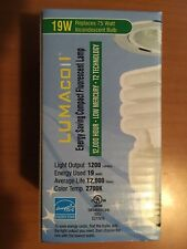 SET OF FOUR (4) LUMACOIL 19W COMPACT FLUORESCENT BULBS