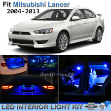 10pcs Pure Blue Interior LED Lights Package Kit For 2004-2013 Mitsubishi Lancer
