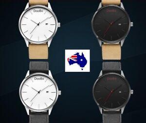 Quality DooBo brand MVMT looking Stainless Steel Mens Womens Unisex Watch Black