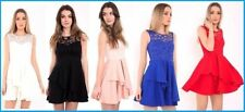Lace Floral Dresses for Women with Pleated