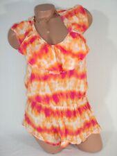 da0b405fa3b6 Victorias Secret Womens Small Beach Swim Coverup Romper Jumper Shorts Tie  Dye