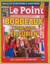 Le Point 2175 Bordeaux primeurs 2013