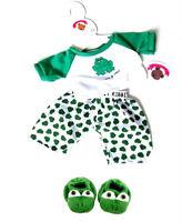 Teddy Bear Clothes fits Build a Bear Teddies Frog PJ's & Slippers Bears Clothing